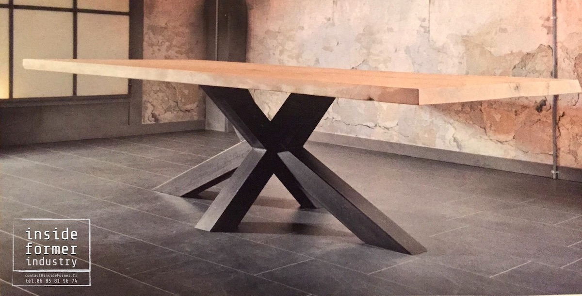 Table design industriel